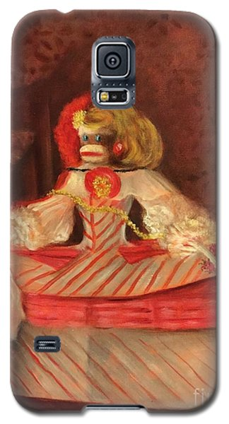 Galaxy S5 Case featuring the painting The Infant Margarita by Randol Burns