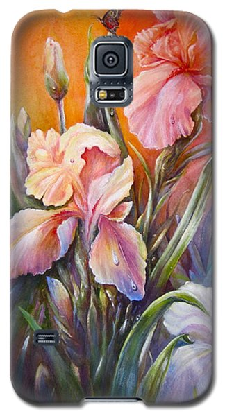 Galaxy S5 Case featuring the painting The Iris Of  Spring  by Patricia Schneider Mitchell
