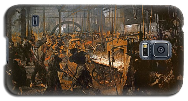 The Iron-rolling Mill Oil On Canvas, 1875 Galaxy S5 Case by Adolph Friedrich Erdmann von Menzel