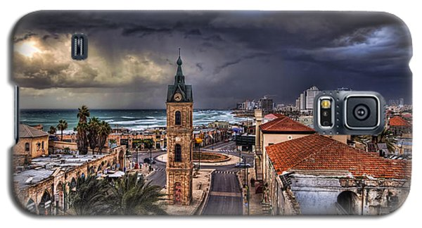 the Jaffa old clock tower Galaxy S5 Case by Ronsho