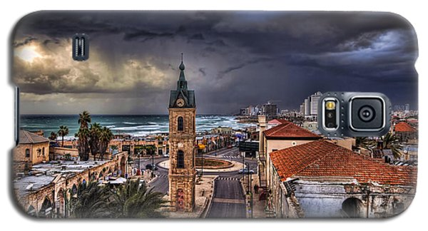 the Jaffa old clock tower Galaxy S5 Case