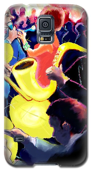 Galaxy S5 Case featuring the digital art The Jazz Singers by Ted Azriel
