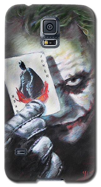 The Joker Heath Ledger  Galaxy S5 Case by Viola El
