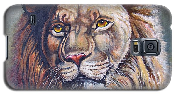 Galaxy S5 Case featuring the painting The King by Anthony Mwangi