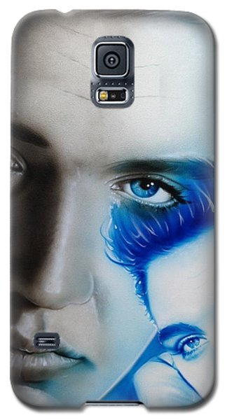 Elvis Presley - ' The King ' Galaxy S5 Case by Christian Chapman Art