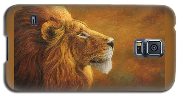 Lion Galaxy S5 Case - The King by Lucie Bilodeau