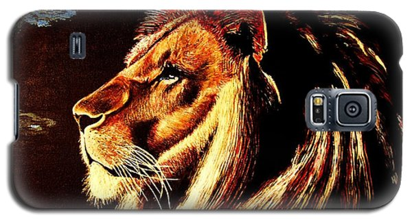 Galaxy S5 Case featuring the painting the King by Viktor Lazarev