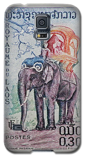 Galaxy S5 Case featuring the photograph The King's Elephant Vintage Postage Stamp Print by Andy Prendy