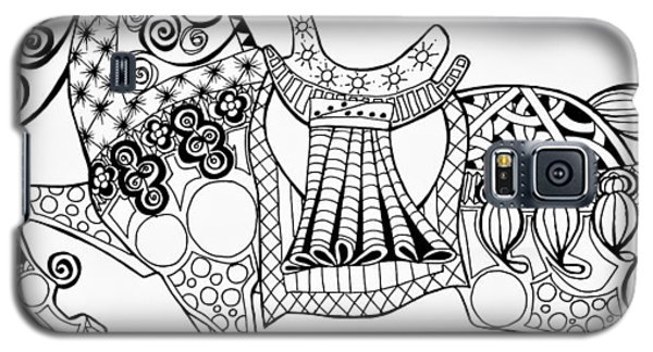 The King's Horse - Zentangle Galaxy S5 Case by Jani Freimann