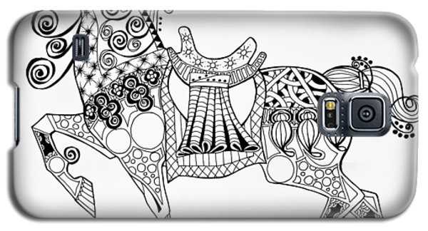 The King's Horse - Zentangle Galaxy S5 Case