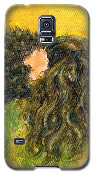 Galaxy S5 Case featuring the painting The Kiss Of Two Curly Haired Lovers by Jingfen Hwu