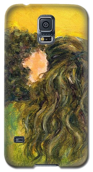The Kiss Of Two Curly Haired Lovers Galaxy S5 Case by Jingfen Hwu