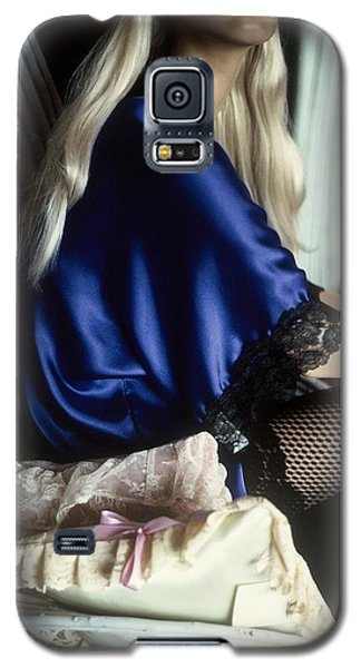 Galaxy S5 Case featuring the photograph The Lady In Blue by Peggy Stokes