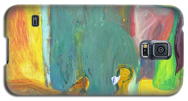 Galaxy S5 Case featuring the painting The Lamp And Bamboo by Shea Holliman