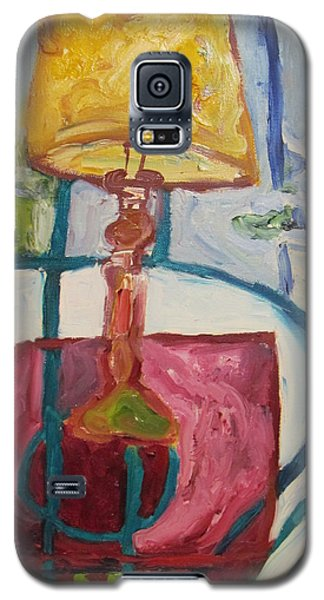 Galaxy S5 Case featuring the painting The Lamp by Shea Holliman