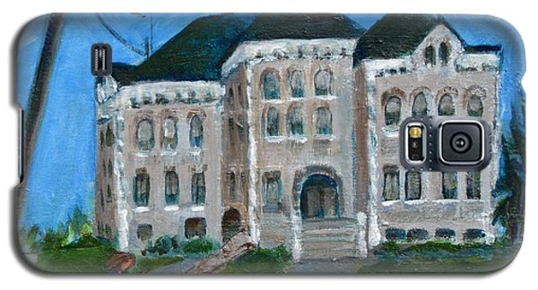 Galaxy S5 Case featuring the painting The Last Bell At West Hill School by Betty Pieper
