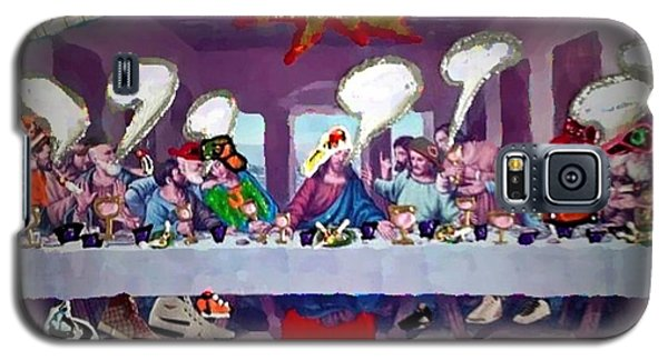 Galaxy S5 Case featuring the painting The Last Last Supper by Lisa Piper
