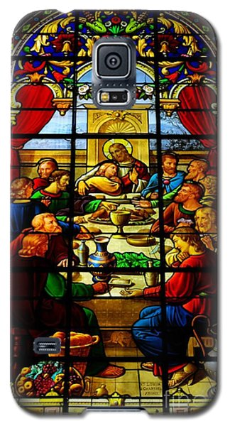 Galaxy S5 Case featuring the photograph The Last Supper In Stained Glass by John S