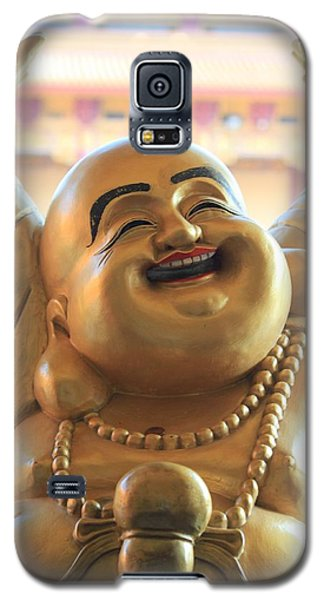 Galaxy S5 Case featuring the photograph The Laughing Buddha by Amy Gallagher
