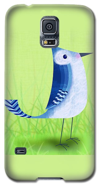 The Letter Blue J Galaxy S5 Case by Valerie Drake Lesiak