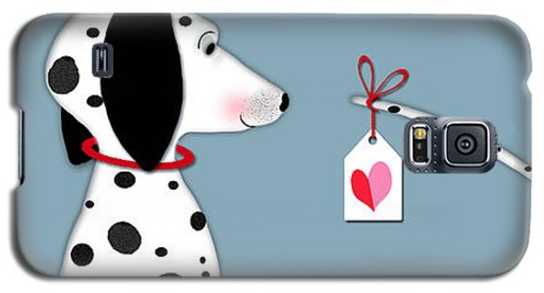 Dog Galaxy S5 Case - The Letter D For Dalmatian by Valerie Drake Lesiak