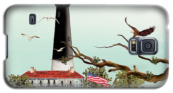 Galaxy S5 Case featuring the painting The Light House At Pensacola by Anne Beverley-Stamps
