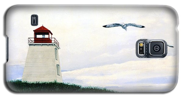 Galaxy S5 Case featuring the painting The Lighthouse by Ron Haist