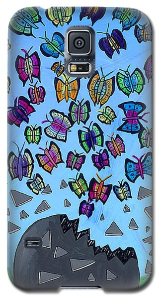 Galaxy S5 Case featuring the painting The Limit Breakers by Artists With Autism Inc