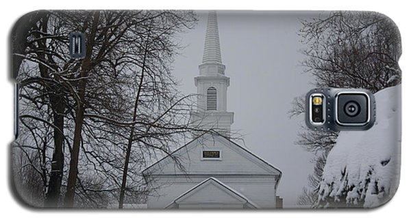 Galaxy S5 Case featuring the photograph The Little White Church by Dora Sofia Caputo Photographic Art and Design