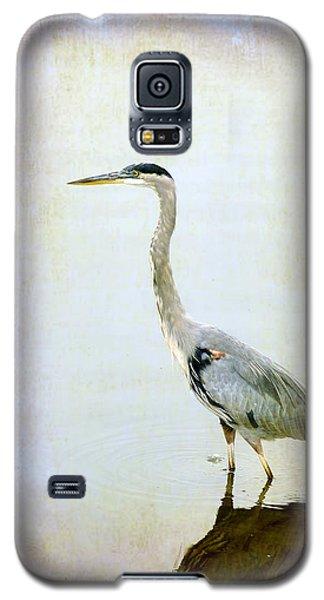 Galaxy S5 Case featuring the digital art The Lone Crane by Davina Washington