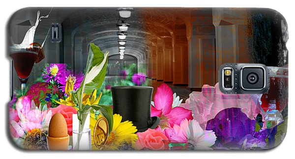 Galaxy S5 Case featuring the digital art The Long Collage by Cathy Anderson