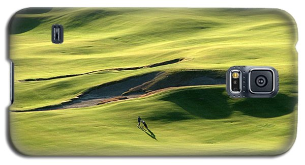 Galaxy S5 Case featuring the photograph The Long Green Walk - Chambers Bay Golf Course by Chris Anderson