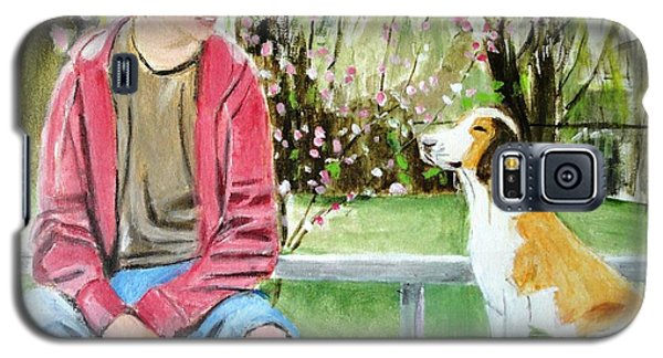 Galaxy S5 Case featuring the painting The Look Of Love by Judy Kay