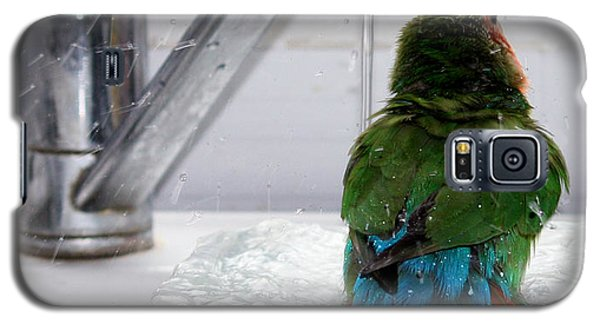 Galaxy S5 Case featuring the photograph The Lovebird's Shower by Terri Waters