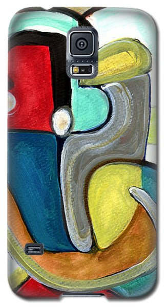 Galaxy S5 Case featuring the painting The Lovers by Stephen Lucas