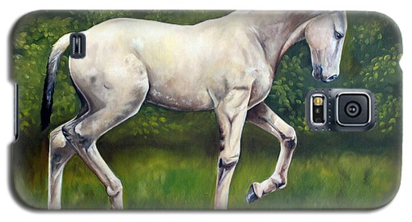 Galaxy S5 Case featuring the painting The Lusitano by Debbie Hart