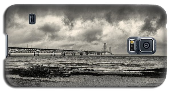 The Mackinac Bridge B W Galaxy S5 Case