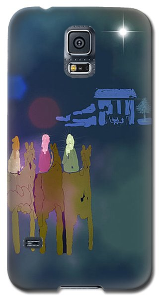 Galaxy S5 Case featuring the digital art The Magi by Arline Wagner
