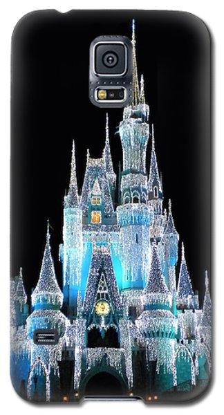 The Magic Kingdom Castle In Frosty Light Blue Walt Disney World Galaxy S5 Case by Thomas Woolworth