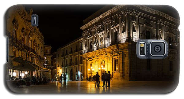 Galaxy S5 Case featuring the photograph The Magical Duomo Square In Ortygia Syracuse Sicily by Georgia Mizuleva