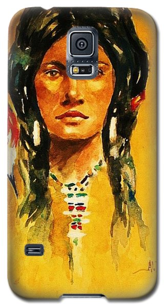Galaxy S5 Case featuring the painting The Maiden Ll by Al Brown