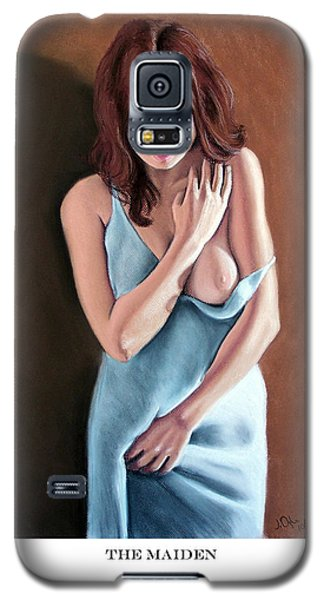 Galaxy S5 Case featuring the pastel The Maiden Prints Only by Joseph Ogle