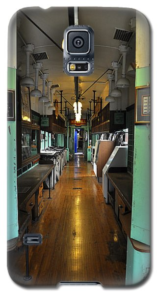 Galaxy S5 Case featuring the photograph The Mail Car From The Series View Of An Old Railroad by Verana Stark