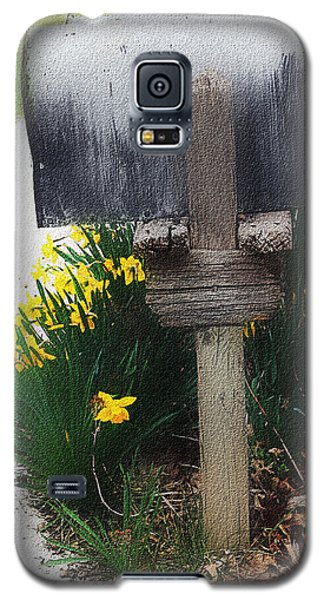 Galaxy S5 Case featuring the photograph The Mailbox - Digital Watercolor by Ellen Tully