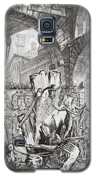Dungeon Galaxy S5 Case - The Man On The Rack Plate II From Carceri D'invenzione by Giovanni Battista Piranesi