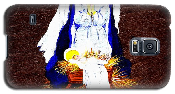 Galaxy S5 Case featuring the painting The Manger by Ellen Canfield