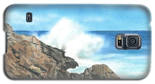 Galaxy S5 Case featuring the drawing The Marginal Way by Troy Levesque