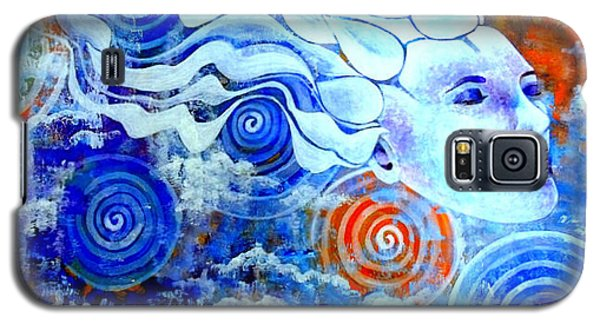 Galaxy S5 Case featuring the painting The Merging by Julie  Hoyle