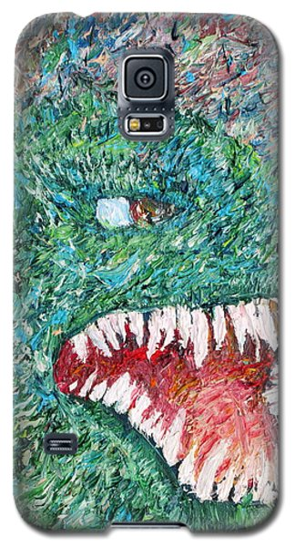 The Might That Came Upon The Earth To Bless - Godzilla Portrait Galaxy S5 Case by Fabrizio Cassetta