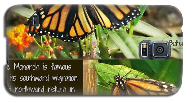 Galaxy S5 Case featuring the photograph The Monarch Story by Mindy Bench